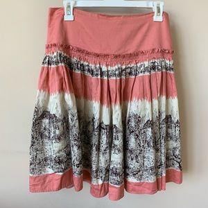 Anthropologie Odille printed woven skirt #880